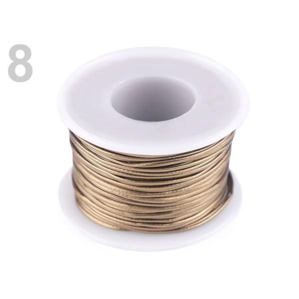 25m 8 Bronzo Eco Cordon en Cuir 1,5 mm, Bijoux, Cordons, Cordes Matériel, des Perles - Photo n°1