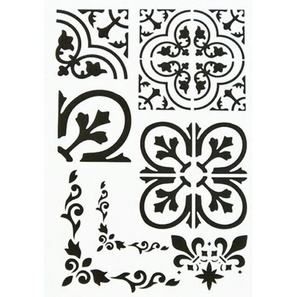 POCHOIR PLASTIQUE 30*21cm : motif antique (17) - Photo n°1