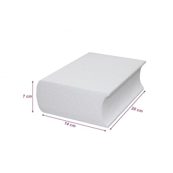 Livre fermé en polystyrène, dim. 20 cm x épaisseur. 7 cm, densité supérieure à customiser - Photo n°2