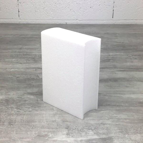 Livre fermé en polystyrène, dim. 20 cm x épaisseur. 7 cm, densité supérieure à customiser - Photo n°3