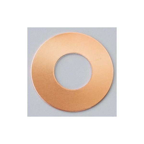 Lot de 10 Pendentifs en cuivre, forme Donut, sans trou, ø 35 mm, épais. 0.8 mm, pour émaillage - Photo n°1