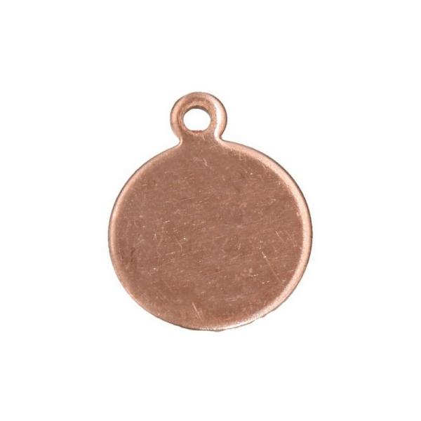 Lot de 10 petits Pendentifs en cuivre Rond 1 trou, ø 1.5 cm, épais. 0.8mm, ébauche pour émaillage - Photo n°1