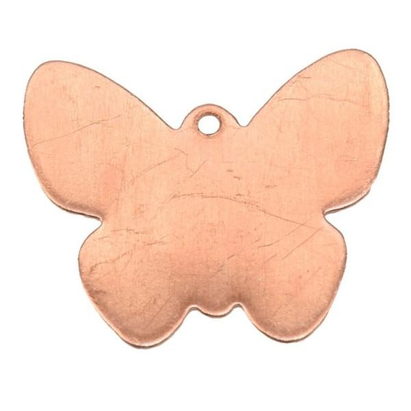 Lot de 10 Pendentifs en cuivre Papillon 22 x 22 mm, ébauche épais. 0.8 mm pour émaillage - Photo n°1