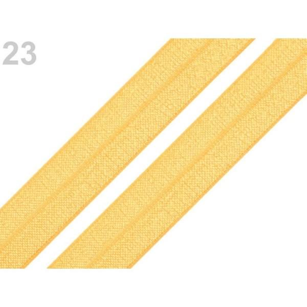 5m 23 Moutarde Rabattre Sur l'Élastique de Garniture Largeur 18mm, Et le Bord, Tricot, Mercerie, - Photo n°1