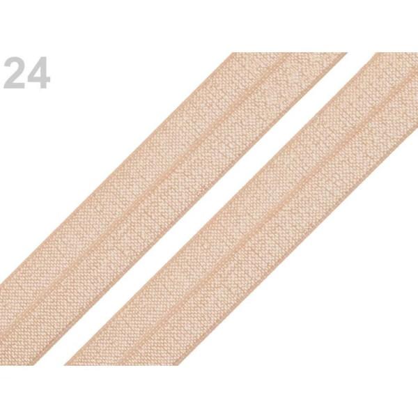 5m 24 Nude Rabattre Sur l'Élastique de Garniture Largeur 18mm, Et le Bord, Tricot, Mercerie, - Photo n°1