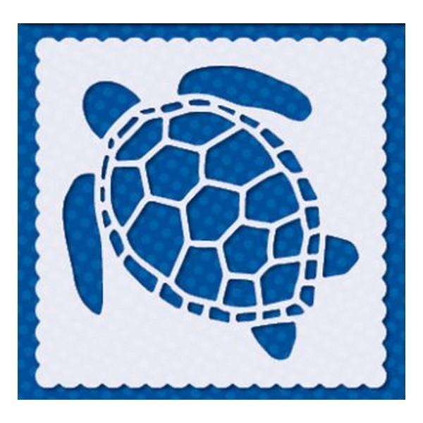 Pochoir plastique souple réutilisable 15 x 15 cm Doodey TORTUE 02 - Photo n°1