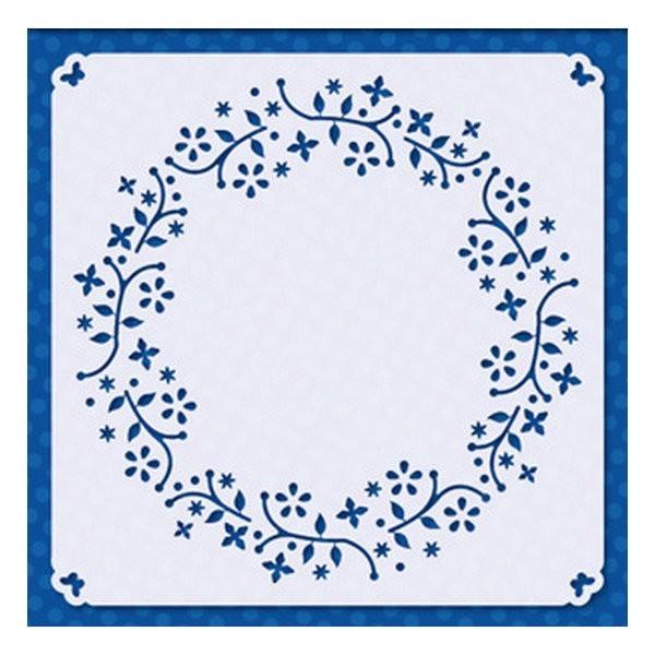 Pochoir plastique souple réutilisable 15 x 15 cm Doodey DECORATION 03 - Photo n°1