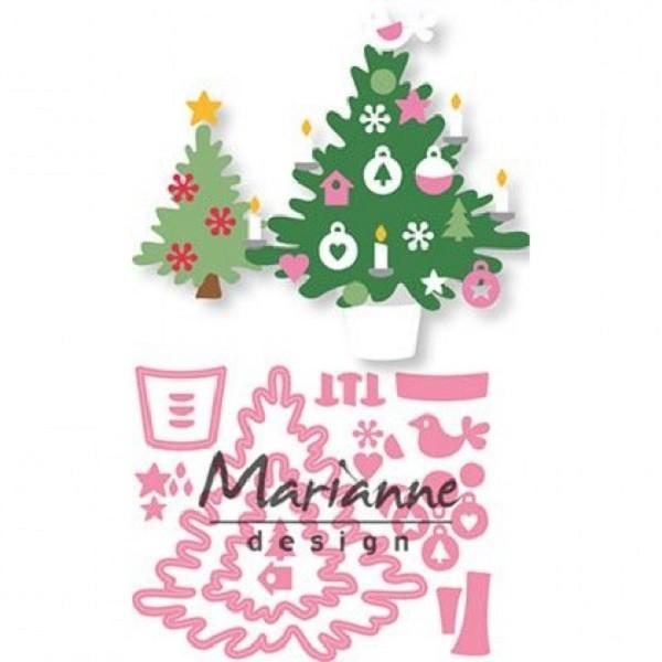 Matrice De Découpe Elines Collectables Marianne Design Sapin De Noel 12 Pcs