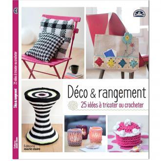 Livre crochet DMC - Déco & Rangement - 25 idées à tricoter ou crocheter