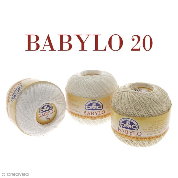Fil DMC Babylo 20 - Différents coloris - 100 g - Photo n°1