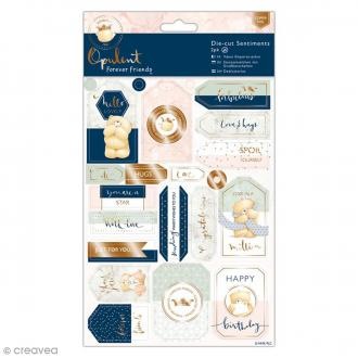 Die cut Forever Friends Opulent - Voeux - 44 pcs