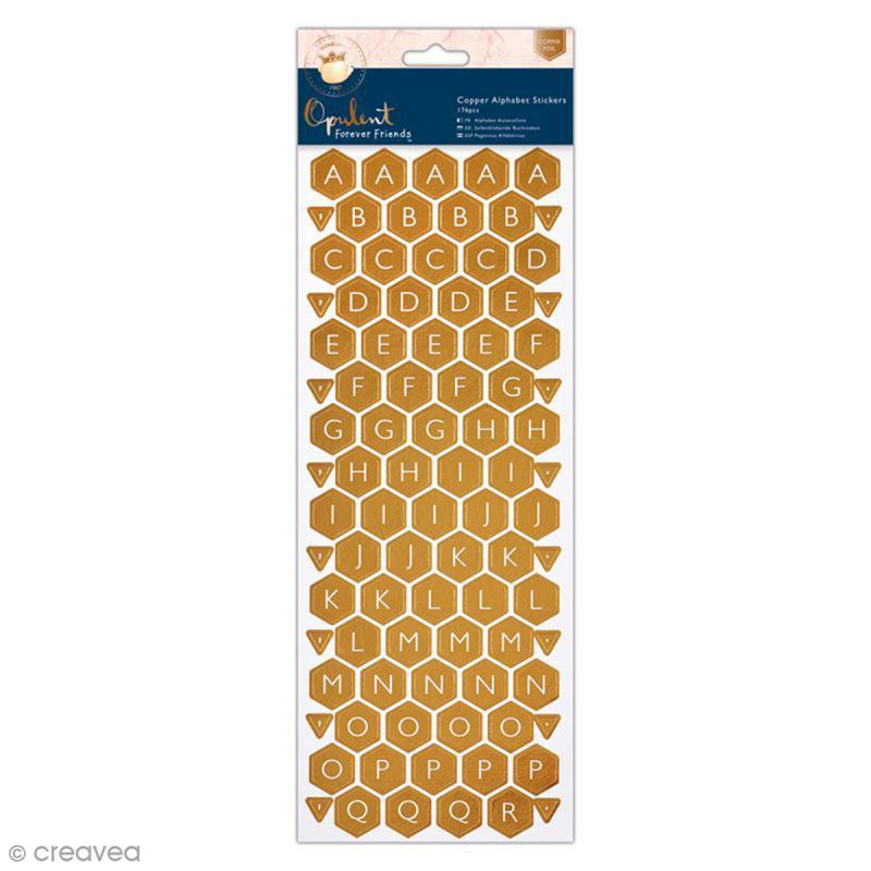 Stickers Alphabet (nid d'abeille) Forever Friends Opulent - 176 pcs - Photo n°1