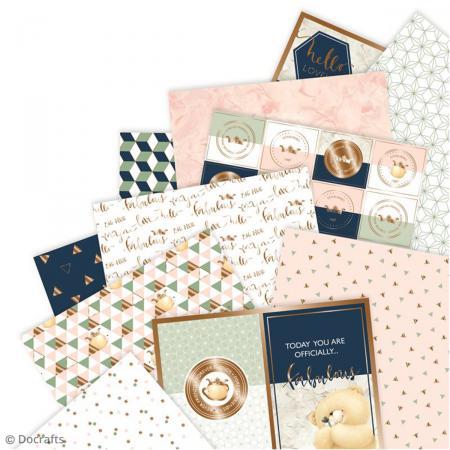 Bloc de papier scrapbooking Forever Friends Opulent - A4 - 32 pcs - Photo n°2