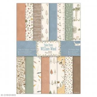 Bloc de papier scrapbooking Tale from Wilson Wood - A5 - 32 pcs