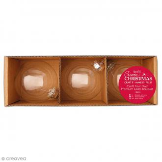 Boules de Noël en verre 7 cm - 3 pcs