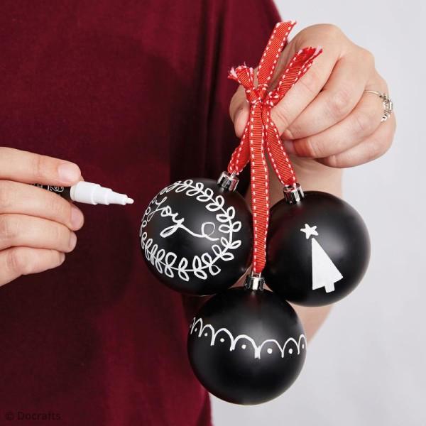 Boules de Noël ardoise 7 cm - 2 pcs - Photo n°4