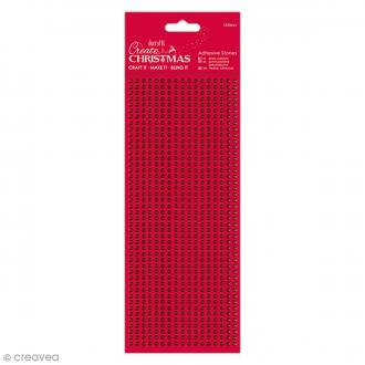 Strass autocollants 3 mm - Rouge - 1530 pcs