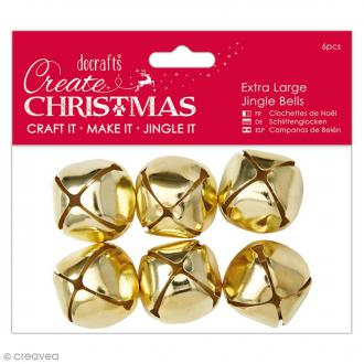 Clochettes Dorées 3 cm - 6 pcs