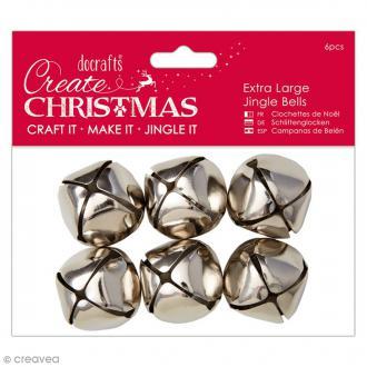 Clochettes Argentées 3 cm - 6 pcs