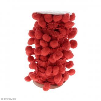 Galons à pompons Rouge - 3 mètres