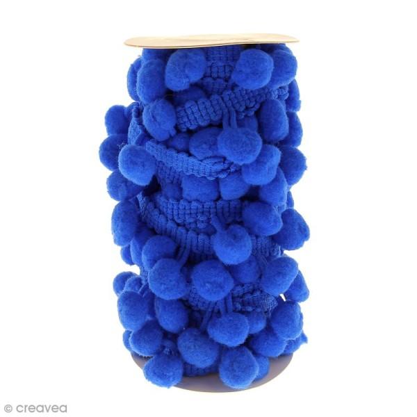 Galons à pompons Bleu - 3 mètres - Photo n°1