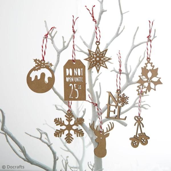 Assortiment Formes en bois à décorer - Images de Noël - 10 pcs - Photo n°2