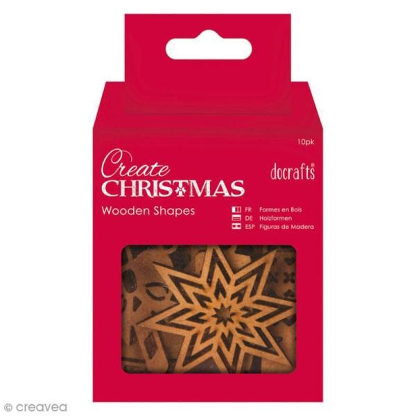Assortiment Formes en bois à décorer - Images de Noël - 10 pcs - Photo n°1