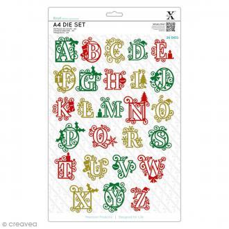 Matrices de coupe - Alphabet festif - De 3,5 à 5 cm de hauteur - 26 pcs