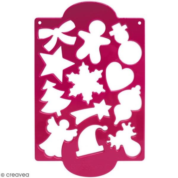 Plaque de découpoirs Noël - 12 formes - Photo n°1