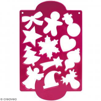Plaque de découpoirs Noël - 12 formes