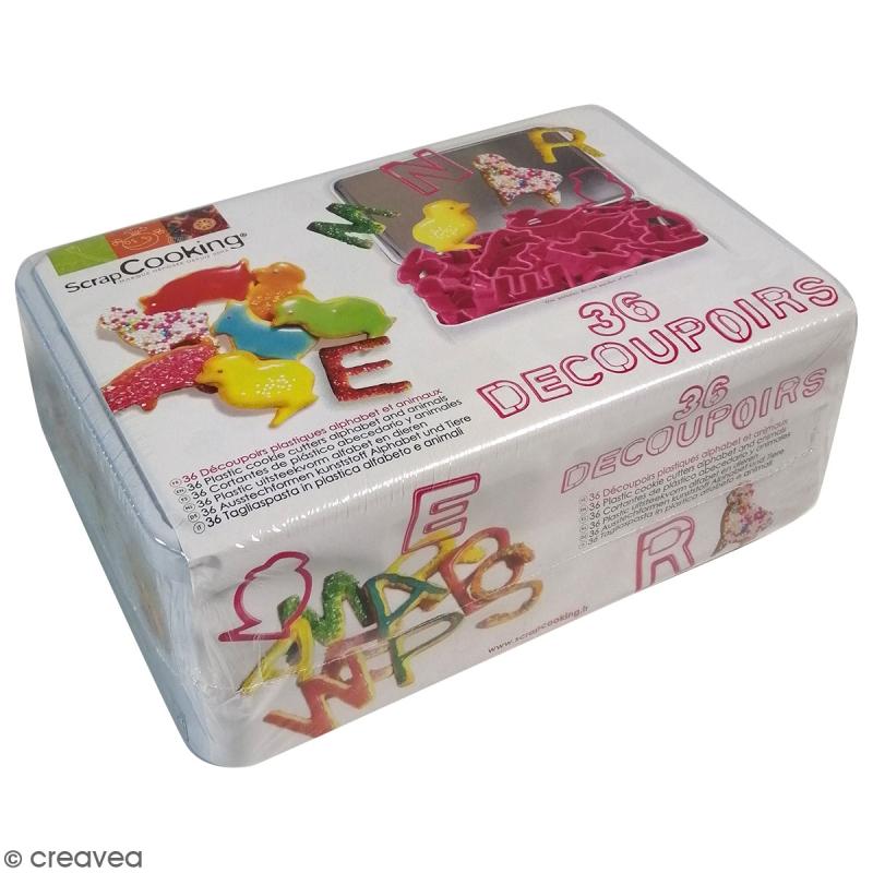 Kit d coupoirs en plastique alphabet et chiffres 36 for Emporte piece noel patisserie