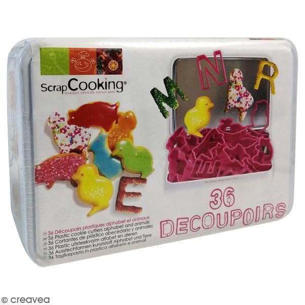 Kit Découpoirs en plastique Alphabet et animaux - 36 emporte-pièces - Photo n°2