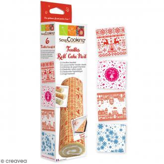 Feuilles Roll' Cake Noël - 6 pcs