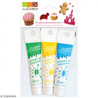 gel colorant alimentaire assortiment 3 pcs - Prix Colorant Alimentaire