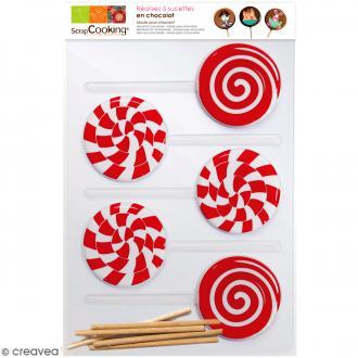 Moule ScrapCooking Sucettes - Sucettes Candy Pop - 5 formes