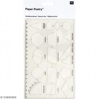 Règle organigraphe - 20 x 12,6 cm - 17 formes