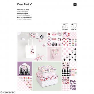Bloc de papier scrapbooking - Patisserie - 21 x 29,7 cm - 30 feuilles