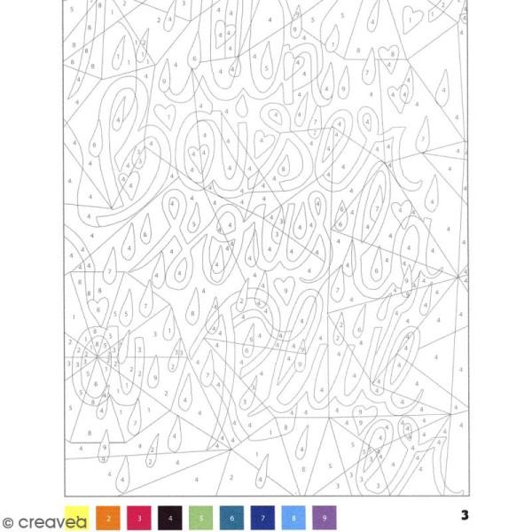 Bloc Coloriage Adulte 21 X 14 5 Cm Messages Mystères Je T Aime 50 Coloriages Au Numéro
