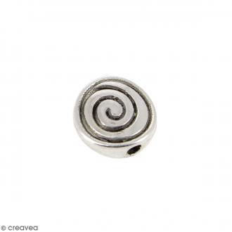 Perle plate en métal - 8 mm