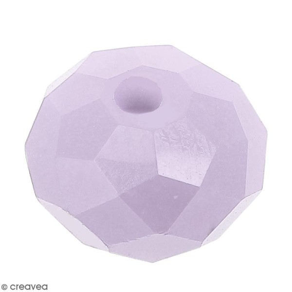 Perle Violet clair opaque à facettes - 8 mm - Photo n°1