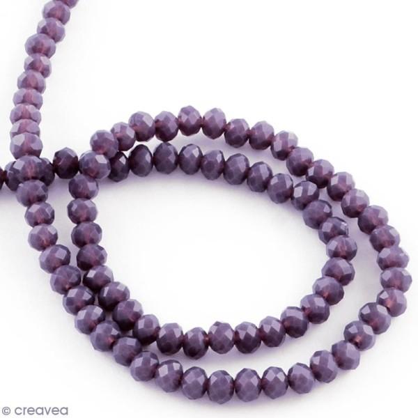Perle Violet à facettes - 8 mm - Photo n°2