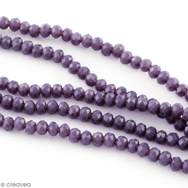 Perle Violet à facettes - 8 mm - Photo n°3