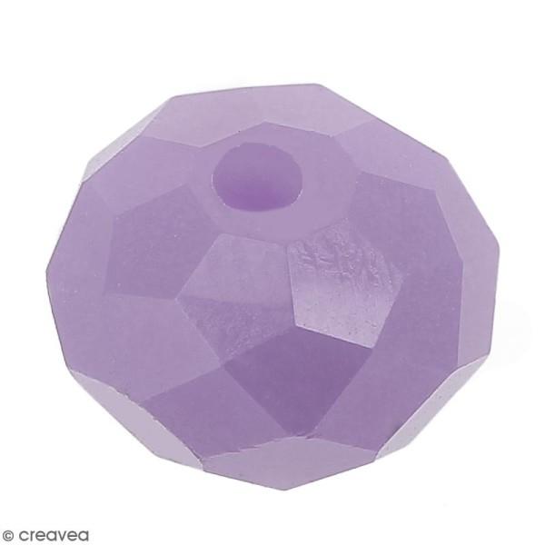 Perle Violet à facettes - 8 mm - Photo n°1