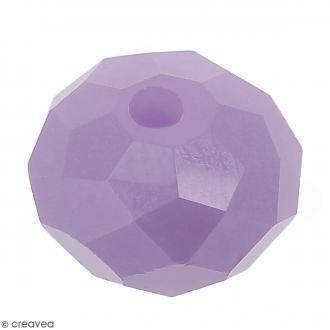 Perle Violet à facettes - 8 mm