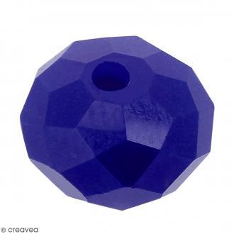 Perle Bleu indigo opaque à facettes - 8 mm
