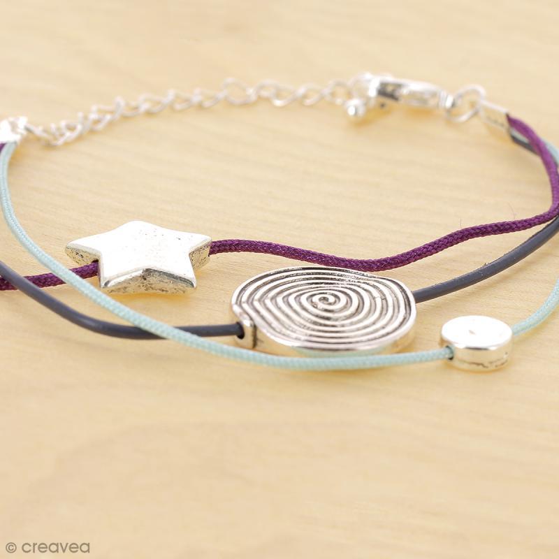 Perle plate Etoile en métal - 15 mm - Photo n°3