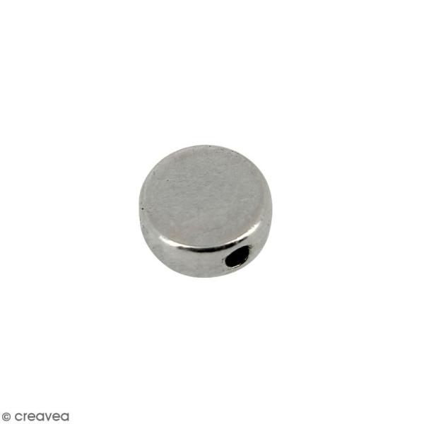 Perle plate en métal - 7 mm - Photo n°1