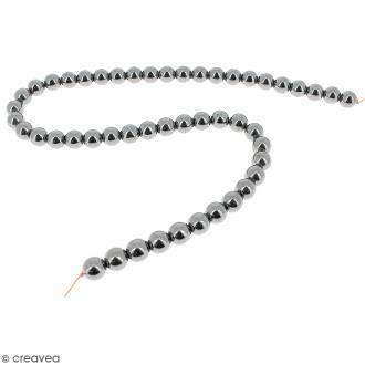 Perles hématites 8 mm - 50 pcs