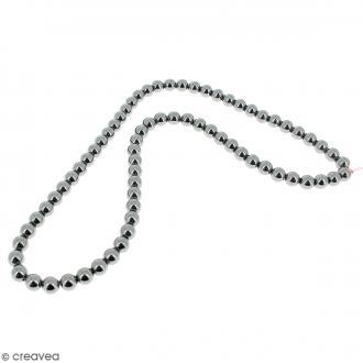 Perles hématites 6 mm - 70 pcs