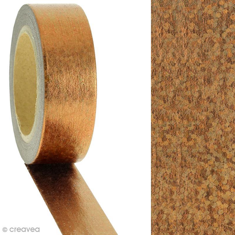 Masking tape Cuivré irisé - 1,5 cm x 10 m - Photo n°2